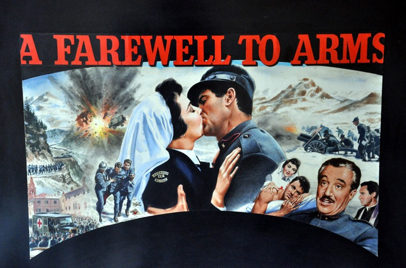 Tom Chantrell Posters | A Farewell To Arms Chantrell Quad ... A Farewell To Arms Movie Poster