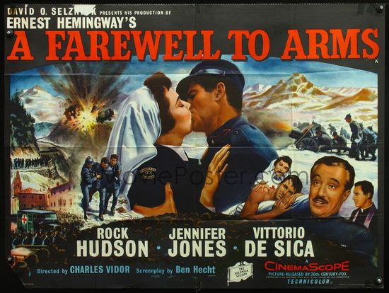 A Farewell to Arms (1957) Movie A Farewell To Arms Movie Poster